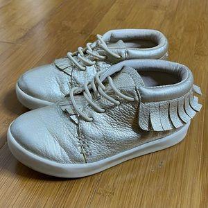 Freshly Picked Leather Hard Sole Shoe gold 8